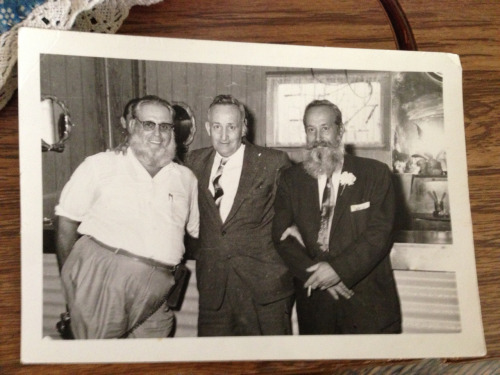 My grandpa (middle) and his  twin brother (right).