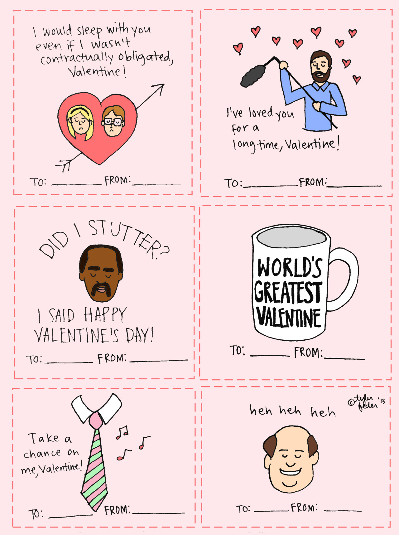 Some more The Office valentines. (by Tyler Feder)