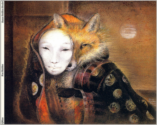 oldpainting:  Susan Seddon Boulet, Shaman Fox Maiden on Flickr.