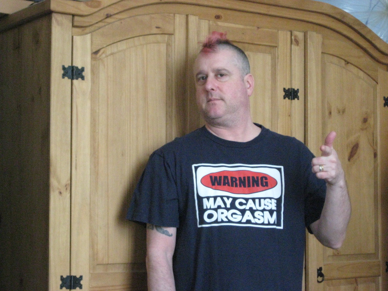 As requested by David Storey, my warning t-shirt.