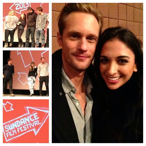ashalannin:  With Alexander Skarsgard at the #Sundance premiere of #TheEast! @britmarling @z_al @ellenpage Incredible writing & performances! #inspired  Nice pics! Thanks for sharing!