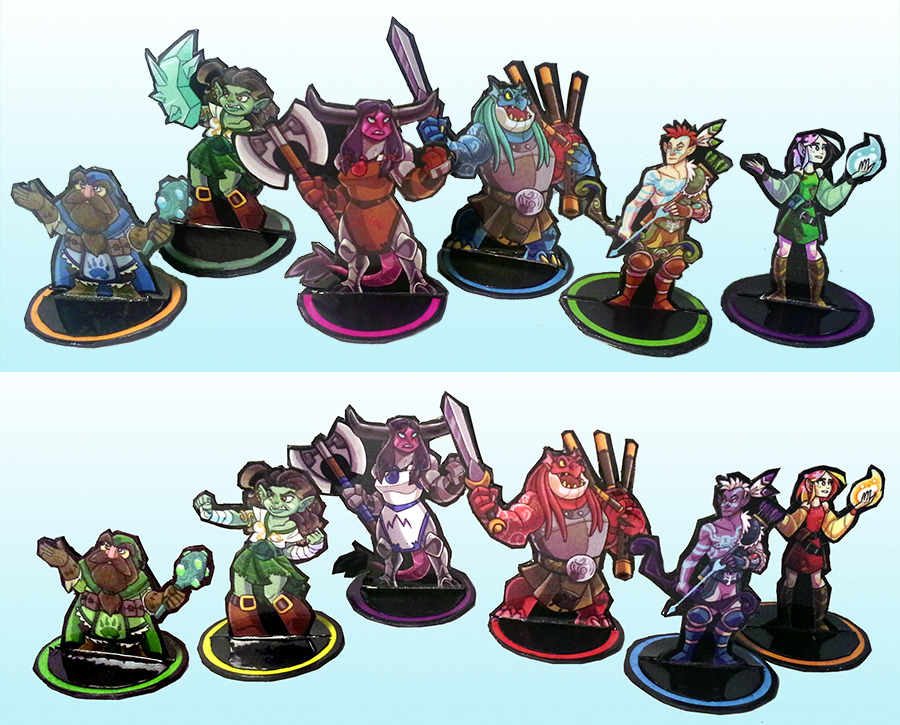 This is a picture of Agile Printable Paper Miniatures
