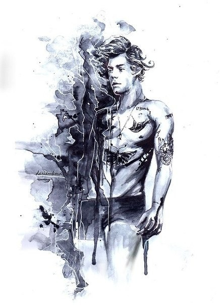 Absolutely incredible drawing of Harry Styles <3