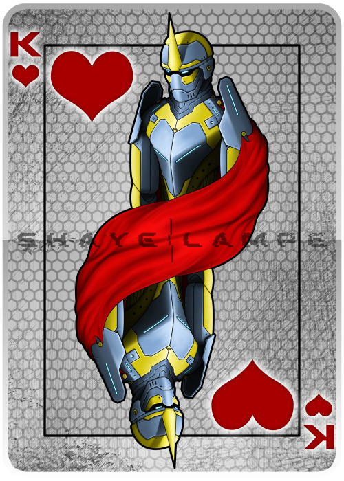 King Card - PS A card design for a class assignment.  I went with a robot theme.