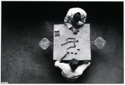 museumuesum:  Danny Lyon Dominoes, Walls Unit, Texas,1967-1969 gelatin silver print, 8 3/4 x 13 in.  Last night