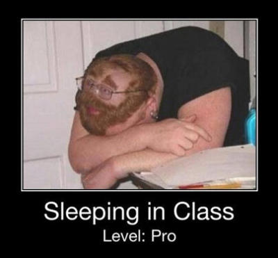 Sleeping in Class. Level: Pro   ~kkkkkkkkk