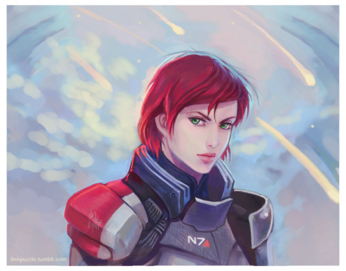 Shepard from Mass Effect.  One of the baddest women in games. :D