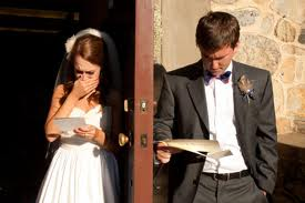 share a letter before your vows, precious  ~M