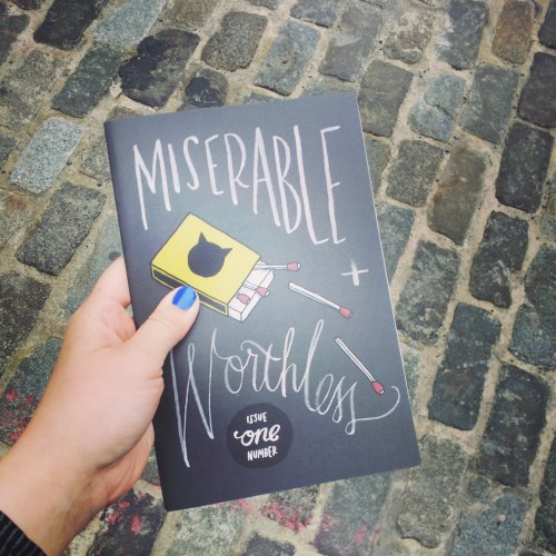 Got a Girl Crush On: Miserable and Worthless a zine curated by Tuesday Bassen + Lindsay Eyth Miserable and Worthless is a collection of badass female artists (including former girl crushes Gemma Correll, Leah Goren, plenty of new ones, and also GAGC's own Meg Wachter) wrapped into one whopping phone-book of a zine! You can order your own copy in their shop now! Check it out! (via miserableandworthless)