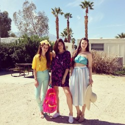 americanapparel:  Emma, Alex, and Megan shoot our California Select spring look book in Palm Springs, California.