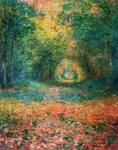 The Undergrowth in the Forest of Saint-Germain, Claude Monet (1882)