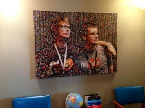 via @SaysDanica: Submitted a pic for @realjohngreen's birthday present? You're now hanging in our office!