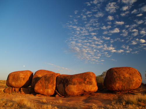 Devil's Marbles in the Australian Outback.