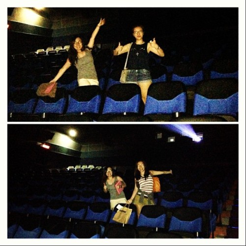 We had the cinema all by ourselves. #likeaboss #scarymovie5 #nobodyswatching (at SM Cinema The Block)