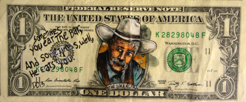 donovanclark:  The stranger From The Big Lebowski Money art By Donovan Clark