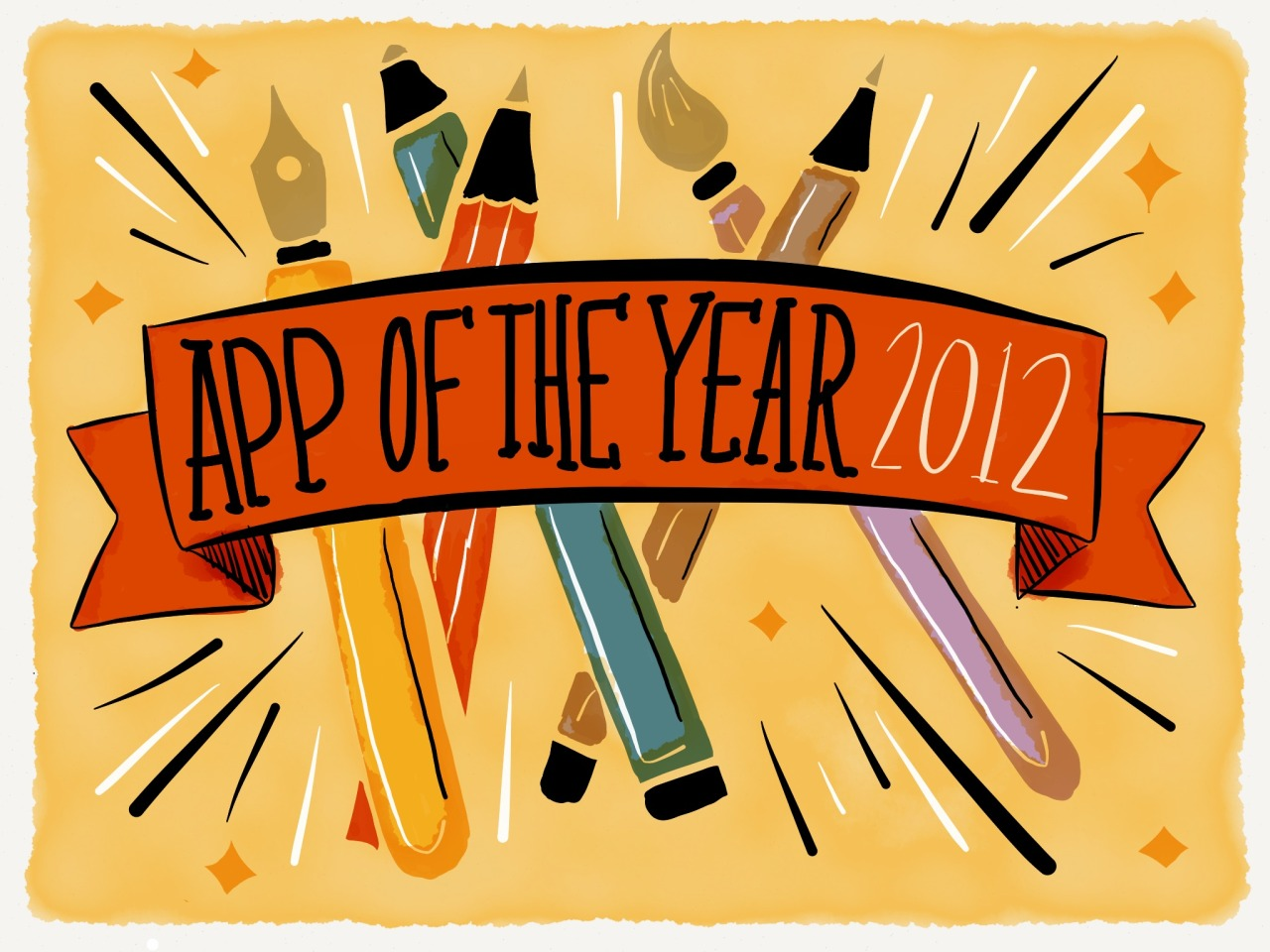 "happy days paper by fiftythree is named app of the year In March, FiftyThree, the company I work with on content and community, launched a beautiful app called Paper that lets users create on the iPad. Today, Apple named Paper iPad App of the Year.  2012 was not easy, but it was the year I got the chance to work with some of the most thoughtful and dedicated people I've known. There will always be those who seek overnight success, who take the path of least resistance, and who think relationships will be easy once they meet a person named The One. But, at last, I think I get it — there are no shortcuts to being really good at what you do. You simply keep working at it. And, most times, it's fun and challenging and you're surprised it's considered ""work"" at all because it doesn't feel like it. FiftyThree didn't win many awards this year because of luck or lack of competition. Instead, I see them practice what they preach. They build everything with purpose, driven by the ingrained desire to make making beautiful, approachable, fun and intuitive. I'm excited to continue sharing the story of FiftyThree. Take a look at the amazing work being created with Paper on Made with Paper and, if you don't have the app already, see what you're missing. Experiment, screw up and start again. There's no wrong way to use Paper, and that's the beauty of it. Below are just a few Paper creations I found while curating the awesome work made in the app this year.      top to bottom allen lau / tinyimplications / days on paper / andydrawscats / zhen zeng / travis morgan"
