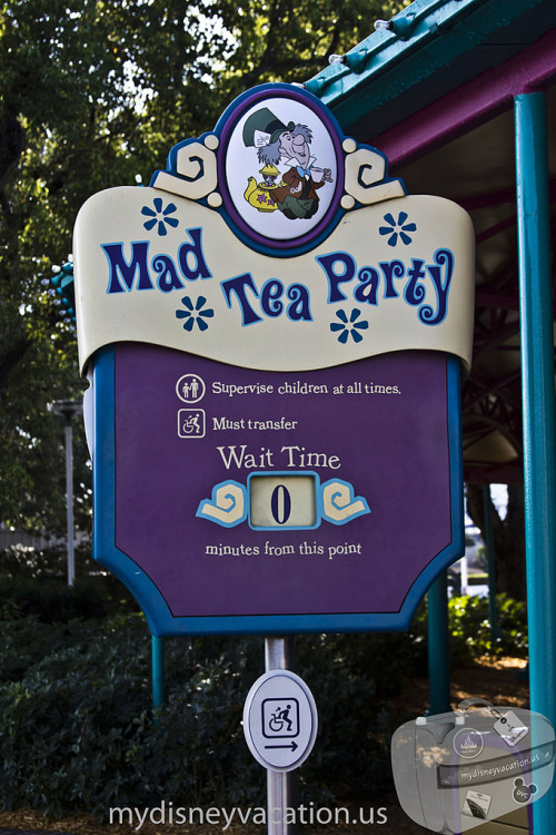 Magic Kingdom Fantasyland - Mad Tee Party Sign_2 (by dziactor)