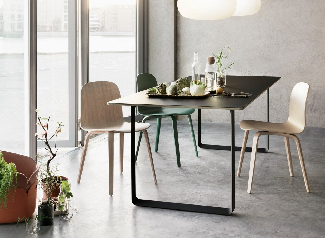 archiproducts:  70/70 by Muuto | Design TAF Architects   http://bit.ly/12r07UA   The 70/70 table is a study in geometric forms identifying the dimensions for a well-balanced table. It has an almost anonymous expression but with careful detailing.  En busca de la mesa ideal.