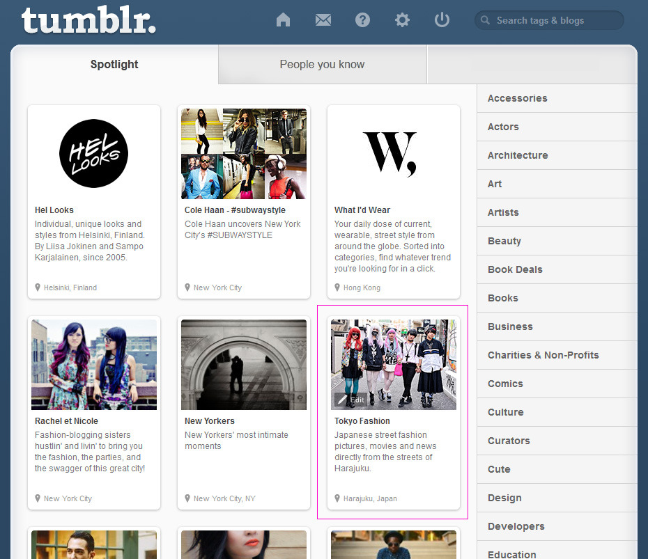 Tumblr selected TokyoFashion for the Street Fashion Spotlight Directory. Thank you Tumblr Gods! :-)