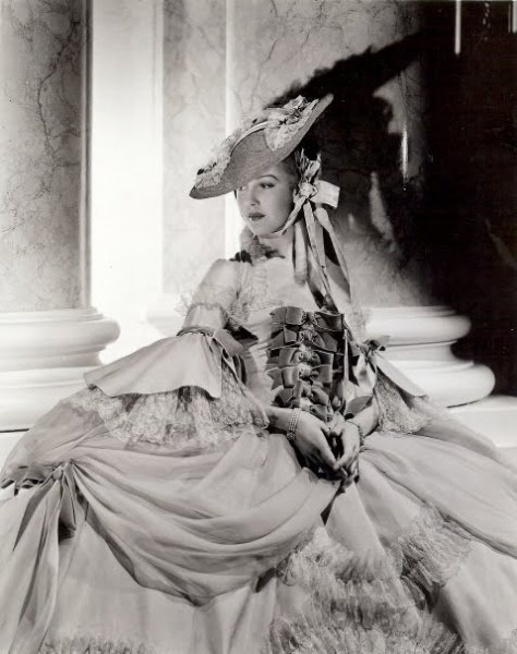 "Anita Louise as Princess Lamballe in ""Marie Antoinette (1938) - Costume design by Adrian"