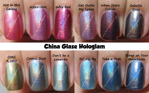 make-upbelieve:  (via China Glaze Hologlam Collection @ The Subtle Shimmer) I might need all of these