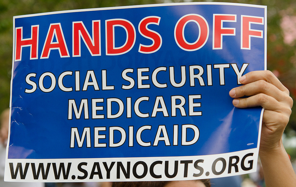 Liberal senators, activists revolt against possible Social Security cuts in the form of 'chained CPI.'  	[photo by Robert Neff]