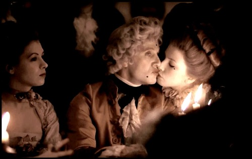 steven berkoff virtually kisses his money away in 'barry lyndon.'