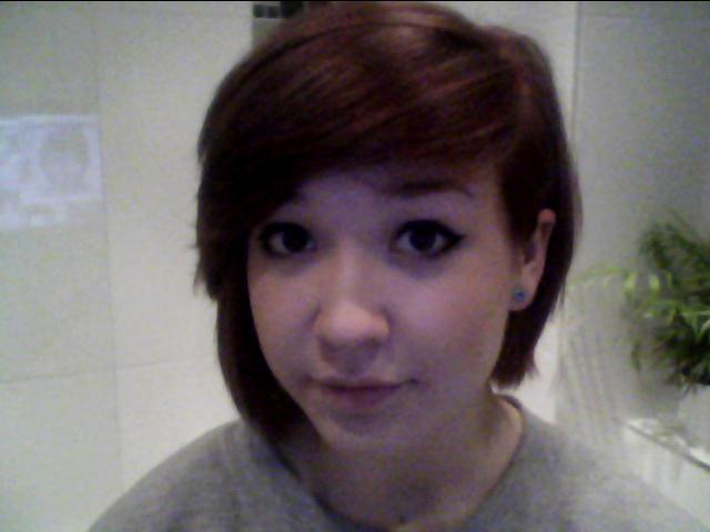 DYED MY HAIR RED! NO MORE WHITE HAIR FOR ME! :(