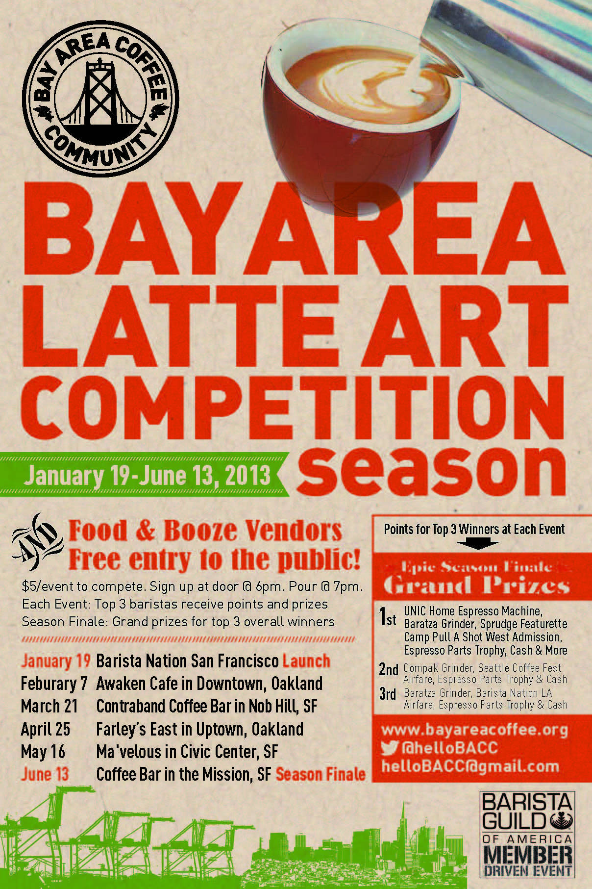 Calling all coffee lovers! Bay Area latte art competition!