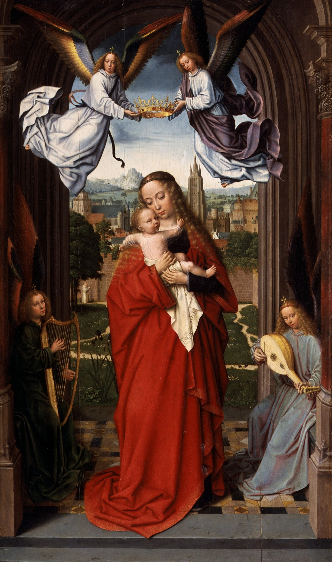 Virgin And Child With Four Angels By Gerard David, Circa 1510-1515