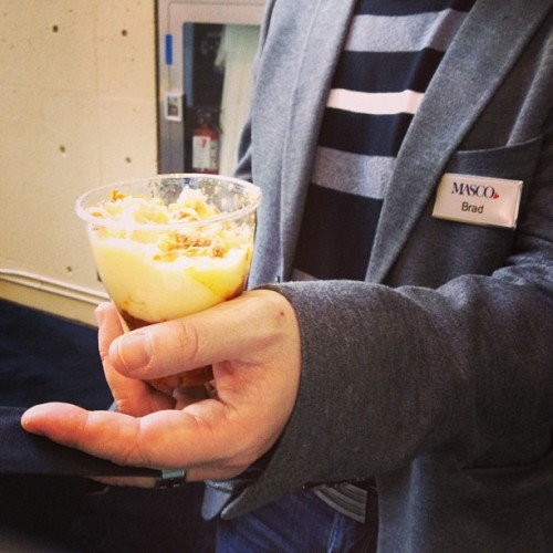 Brad highly recommends the parfait from the @barque booth at @idstoronto