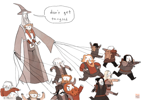gingerhaze:  I did it drawing 13 dwarves from memory is not easy