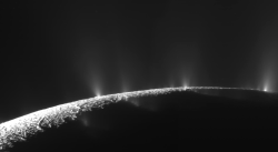 Ice jets erupting from Saturn's moon Enceladus. This is amazing!