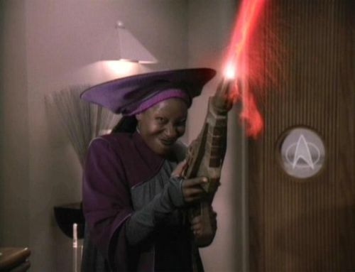 "femmeforeverybody:  Nichelle Nichols (Uhura on the original series):""Whoopi Goldberg, she's just marvellous. I had no way of knowing that she was a Star Trek fan. When I finally met her it was her first year on the Next Generation. She loved the show so much and she told her agent she wants a role on Star Trek. Well agents go 'Big screen, little screen, no, you can't do that'. Well you can't tell Whoopi 'You can't do that'. And so they finally asked, and they had the same reaction at Star Trek office, specifically Gene. And she said, 'I want to meet him and I want him to tell me to my face. If he tells me he doesn't want me and why, I'll be fine.' Knowing Gene he had to take that challenge, and so he met with her. She said, 'I just wanted you to tell me why you don't want me in Star Trek.' Gene said, 'Well, I'll just ask you one question and I'll make my decision on that. You're a big screen star, why do you want to be on a little screen, why do you want to be in Star Trek?' And she looked at him and she said, 'Well, it's all Nichelle Nichols' fault.' That threw him, he said, 'What do you mean?' She said, 'Well when I was nine years old Star Trek came on,' and she said, 'I looked at it and I went screaming through the house, ""Come here, mum, everybody, come quick, come quick, there's a black lady on television and she ain't no maid!""' And she said, 'I knew right then and there I could be anything I wanted to be, and I want to be on Star Trek.'  And he said, 'I'll write you a role.' http://www.bbc.co.uk/cult/st/interviews/nichols/page4.shtml"