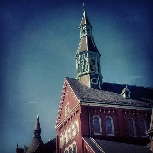Competing #Steeples in #Northside.   #Brooklyn. #New_York_City #NYC #NYTvoyage