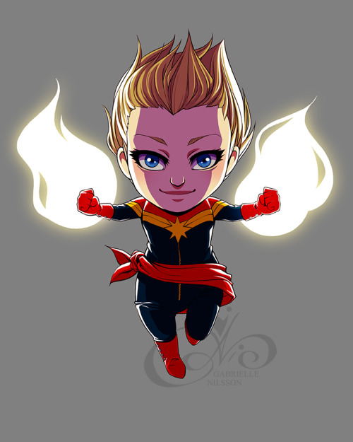 gabbi-ness:  Women of Marvel - Captain Marvel (Carol Danvers) [x]