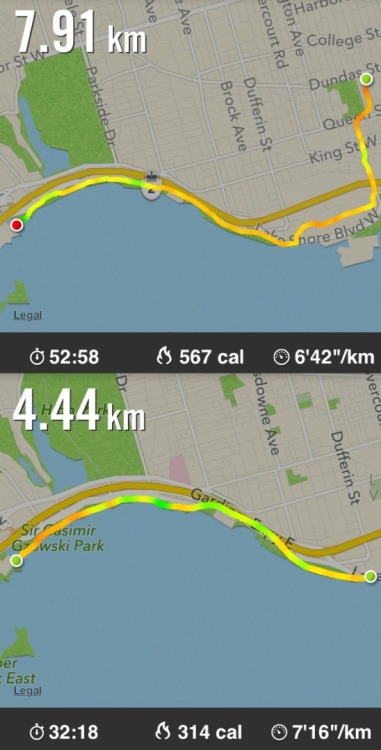 Not my best performance. Nice, useful app: Nike +.