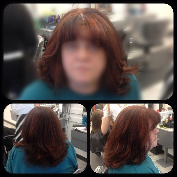 #cut #color #style #hair #hc #stylist #client #privacy #blur #pretty #layers #folis #red #copper #broen #black