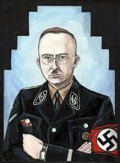 velvet-valkyrie:  Himmler portrait  That man.