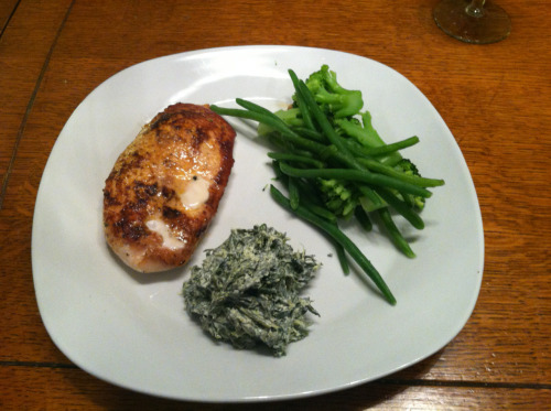 Grilled Chicken Breast, Steamed Veggies, Spinach Dip (Trader Joe's), Homemade, Philadelphia, PA
