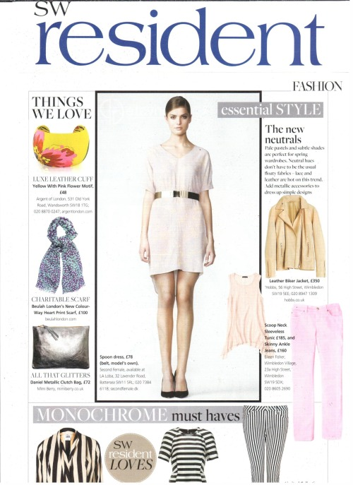 "Our fabulous limited edition Niyana Heart Scarf is featured in SW Resident's ""Things We Love"" column. This beautiful silk & wool scarf is an accessory with trans-seasonal appeal that adds the perfect pop of colour to any ensemble. You can look good while feeling good as 10% of the profits from the sale of this scarf are donated to the Beulah Trust."