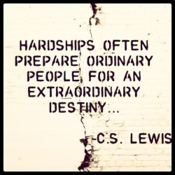Hardships often prepare ordinary people for an extraordinary destiny. #motivation #quotes #picturequotes #business #marketing #NewYork #workhard