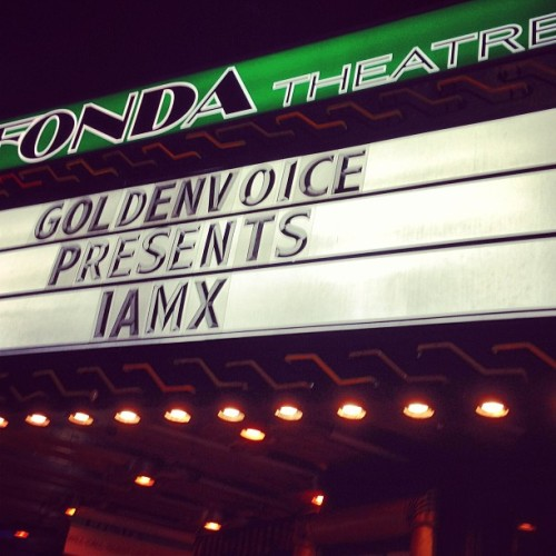 #IAMX 😁 (at The Fonda Theatre)