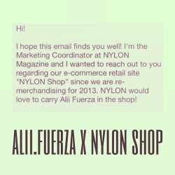 Feeling blessed for this amazing opportunity to be featured in NYLON magazine's online shop. The process has already begun. Keep a look out for ALII.FUERZA X NYLON SHOP