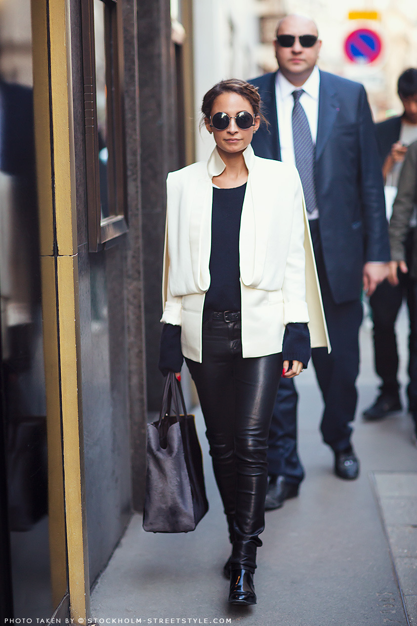 labellefabuleuse:  Nicole Richie during Paris Fashion Week, Fall 2013
