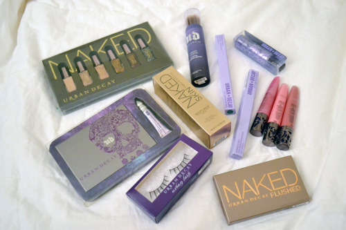 After my tour of Urban Decay they sent me off with a generous little bag of goodies! I am still behind on swatches and reviews — I left my Naked Basics in New York but I will swatch my cousin's — but will get around to it this weekend, at least some of this stuff.