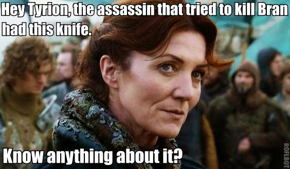 "kristrauma:  sigfodr:  What if the Starks didn't make stupid decisions? x ""Okay, I won't trust you then""  this is the most beautiful thing i've ever seen"