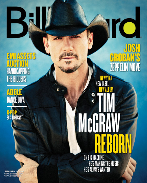Tim McGraw covers the latest issue of Billboard magazine! Stay tuned for the cover story and click here to subscribe.