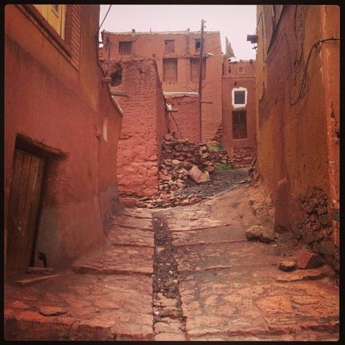 #beautiful and #reddish #village (at Abyaneh Village | ابیانه)