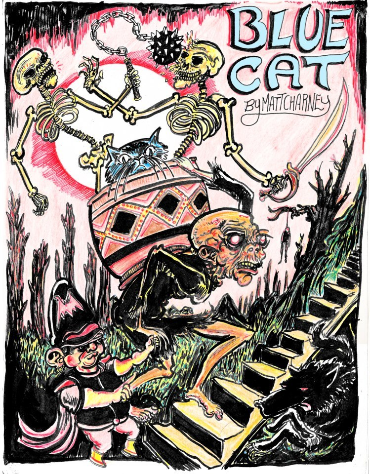 blue cat cover draw by my good friend nate. check out his other work! http://grixly.tumblr.com